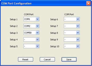 Serial Script Com Port Configuration
